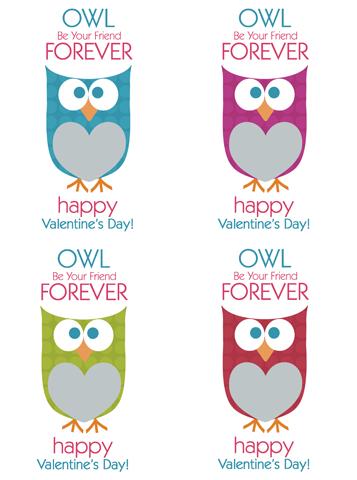 vday owl printable image