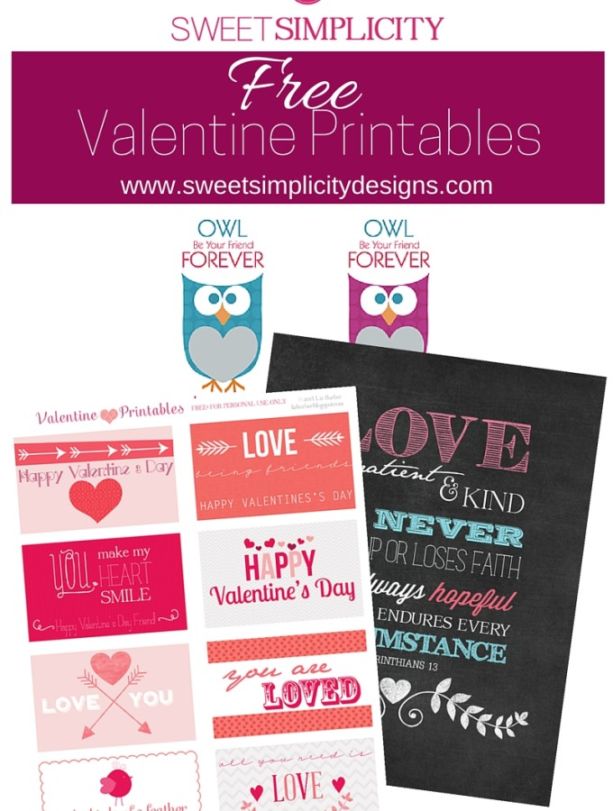 Valentine Printables Promo 2016