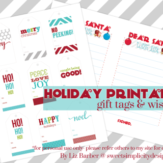 Fab and free holiday  printables