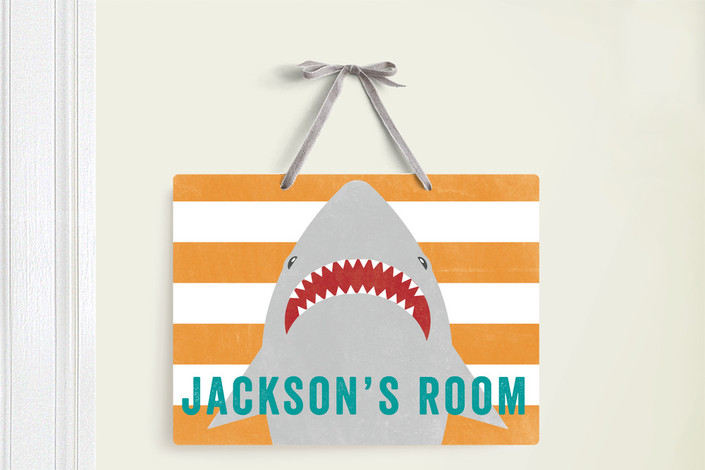 SHARK BAIT ROOM DECOR SIGN