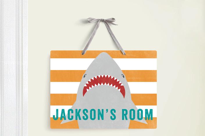 SHARK BAIT ROOM DECOR SIGN